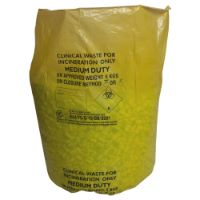 Yellow Clinical Waste Bags 28x39