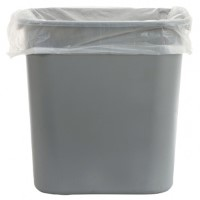 Heavy Duty Square Bin Liners White 15x24x24