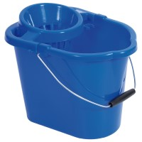 12L Rectangular Mop Bucket And Wringer Blue