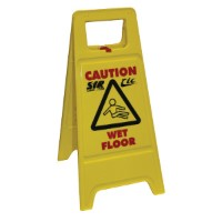 Cleaning-In-Progress / Wet Floor Sign